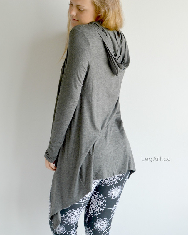 Hooded Cardigan Charcoal