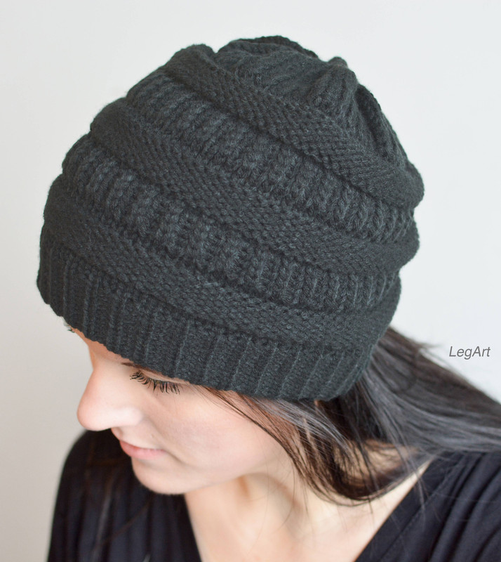 Mad Hatter Beanie- Charcoal