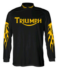 Triumph Nulogo Riding Jersey (flamed design)