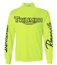 Hi Viz Triumph Bonneville riding jersey (lime)