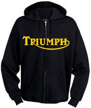 Triumph motorcycle zippered hoodie
