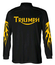 TRIUMPH nulogo longsleeveJersey (flames)