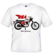 1969 BSA lightning tee shirt, BSA lightning shirt