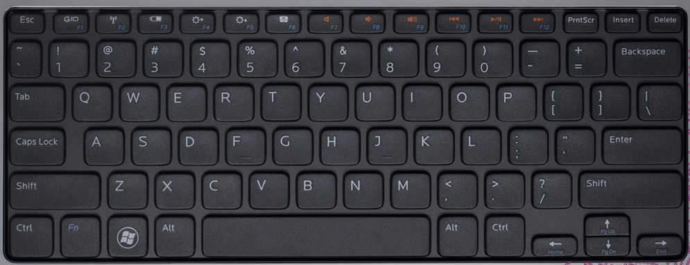 Dell laptops keyboard