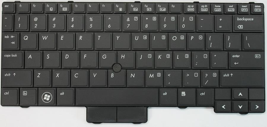 HP EliteBook 2540P Laptop Keyboard Keys Replacement ...