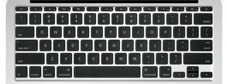 """Apple 11"""" macbook air laptop keys"""