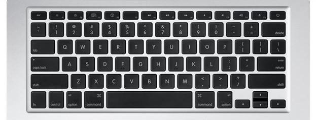 "Apple Black Macbook AIR Replacement Laptop Keys 13"""