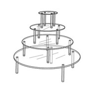 Round Table Display- 4 Tier