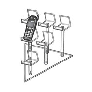 6 Cell Phone Mini Easel Display, Triangle