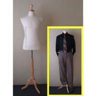 White Male French Mannequin Dress Form