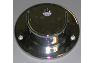 "U Flange For 1-1/4"" Round Tubing Chrome"