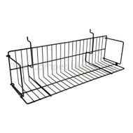"Slatwall 24"" Video/Book Shelf"