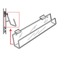 Slatwall J-Rack Shelf With 20° Tilt