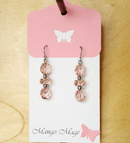 Pink Faceted Glass Earrings