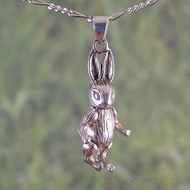 Movable Rabbit Sterling Silver Pendant