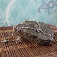 Sterling Silver Blue Flower Anklet/Bracelet