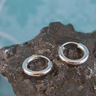 Sterling Silver 12x2mm Hoop Earrings