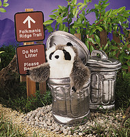 Raccoon in Garbage Can - Folkmanis® Puppet