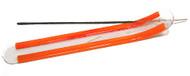 Orange Glass Incense Boat Burner