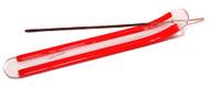 Red Glass Incense Boat Burner