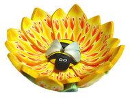 Fimo Bee in Flower Incense Burner - Petal Style #1