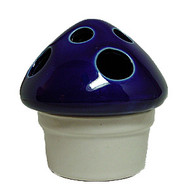 Ceramic Mushroom Incense Burner - Dark Blue