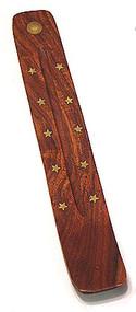 Wooden Inlaid Incense Burner - Sun Design
