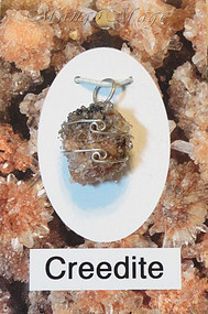Creedite Sterling Silver Wire-Wrapped Stone Pendant
