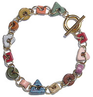 Ceramic Shapes Bracelet - Earth Tones