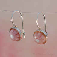 Pink 8mm Millefiori Earrings