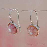 Pink 8mm Millefiori Earrings