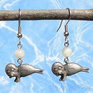 Moonstone Seal Earrings