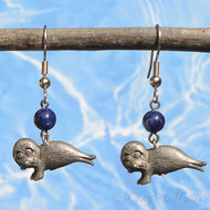 Lapis Lazuli Seal Earrings