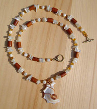 Mother of Pearl Honey Necklace