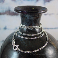 """20"""" Figaro 050 Sterling Silver Chain"""