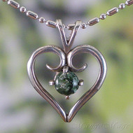 Seraphinite Sterling Silver Heart Pendant