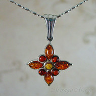 Valerio888 Multi-Colored Amber Sterling Silver Pendant