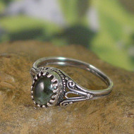 Seraphinite Sterling Silver Ring - Size 6