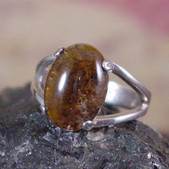 Cacoxenite Sterling Silver Ring - Size 7