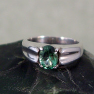 Siberian Green Quartz Sterling Silver Ring - Size 7
