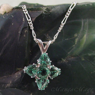 Siberian Green Quartz 5 Stone Sterling Silver Pendant