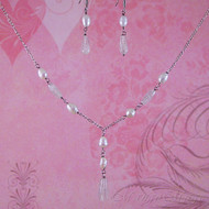 Rose Quartz & Fresh Water Pearl Sterling Silver Jewelry Set