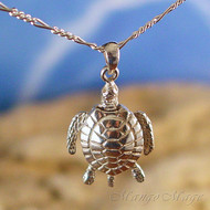 Movable Sea Turtle Sterling Silver Pendant