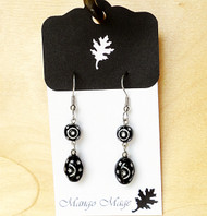Black & White Star Dangles
