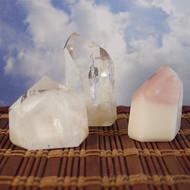Angel Phantom (Amphibole) Quartz Crystal Points
