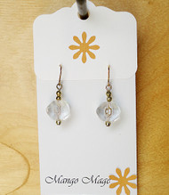 Clear Glass Dangle Earrings