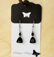 Black Glass Earrings