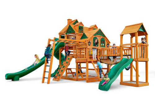 Front view of the Empire Extreme Swing Set from Plan-It-Play.