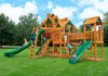 Outdoor view of the Empire Extreme Swing Set from Plan-It-Play.