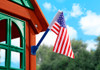 Alternate outdoor view of American Flag from Plan-It-Play.
